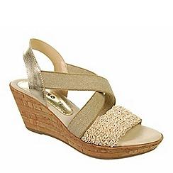Adesso - Gold 'Ella' ladies wedge heeled sandals