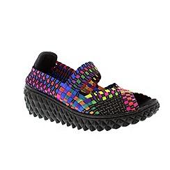 Adesso - Black tutti frutti 'Freda' ladies casual slip on shoes