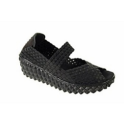 Adesso - Black 'Freda' ladies casual slip on shoes