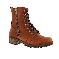 Adesso - Tan 'Ginger' ladies military boots