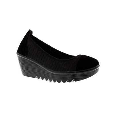 Adesso Black ´Karis´ ladies wedge heeled shoe - . -