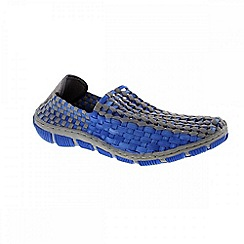 Adesso - Blue & grey 'Layla' ladies slip on shoe