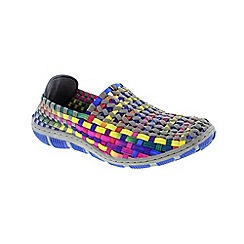 Adesso - Multi-coloured tutti frutti 'Layla' ladies slip on shoe
