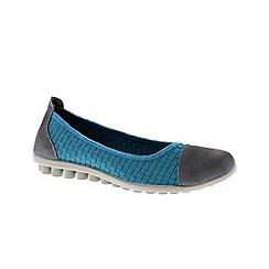 Adesso - Blue 'Niki' ladies slip-on ballerina pump shoe