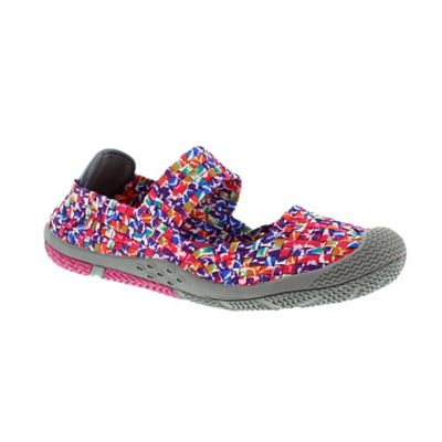 Adesso Multicoloured splash ´Tia´ multi coloured slip on mary jane shoe - . -