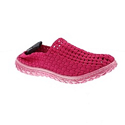 Adesso - Pink 'Frankie' ladies slip on shoes