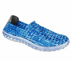 Adesso - Aqua blue 'Frankie' ladies slip on shoe