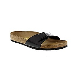 Birkenstock - Black patent 'Madrid' ladies single strap sandals