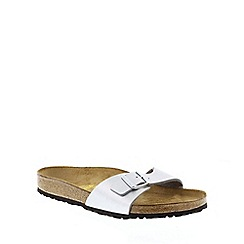 Birkenstock - Silver Silver 'Madrid' slip on sandals