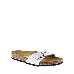 Birkenstock - Silver Silver 'Madrid' slip on sandals
