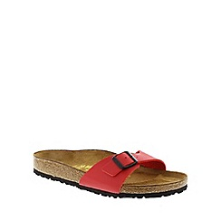 Birkenstock - Red 'Madrid' single strap sandal