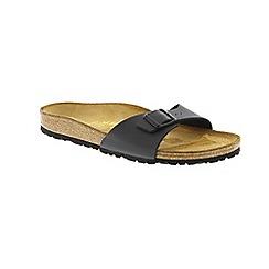 Birkenstock - Black leather 'Madrid' mule sandals