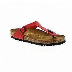 Birkenstock - Red cherry red gizeh women's toe post sandals