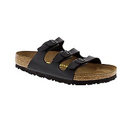 Birkenstock - Black Black 'Florida' slip on sandals