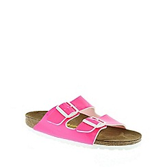 Birkenstock - Pink Neon Pink 'Arizona' slip on narrow fit sandals