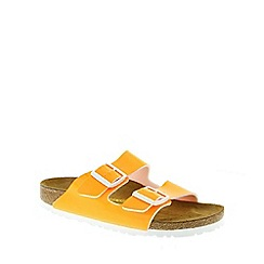 Birkenstock - Orange Neon Orange 'Arizona' slip on narrow fit sandals