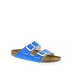 Birkenstock - Blue Neon Blue 'Arizona' slip on narrow fit sandals