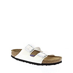 Birkenstock - White Magic Galaxy White 'Arizona' slip on narrow fit sandals
