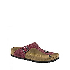 Birkenstock - Red Royal Python Red Gizeh ladies sandal