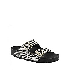Birkenstock - Multi Coloured 'Zebrino Arizona' ladies two strap sandals