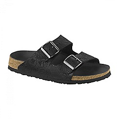 Birkenstock - Black 'Relief Arizona' ladies two strapped sandal