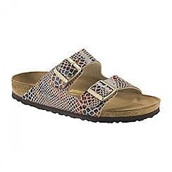 Birkenstock - Brown Shiny Snake Sand Arizona ladies sandal