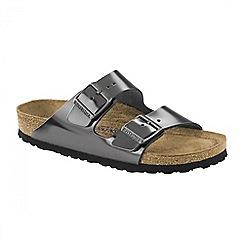Birkenstock - Dark grey 'Metallic Anthracite Arizona' ladies sandal