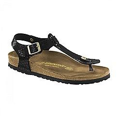 Birkenstock - Black 'Shiny Snake Kairo' ladies sandal
