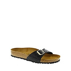 Birkenstock - Black Shiny Snake 'Madrid' ladies sandal