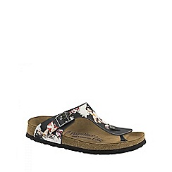 Birkenstock - Multi Coloured 'Gizeh Painted Bloom' ladies sandals