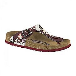 Birkenstock - Red Painted 'Bloom Gizeh' ladies sandals