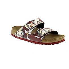 Birkenstock - Red 'Bloom Arizona' ladies sandals