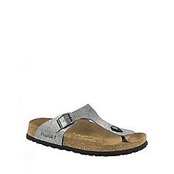 Birkenstock - Grey Royal Python Gray Gizeh ladies sandal