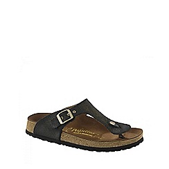 Birkenstock - Black 'Metallic Knit Gizeh' ladies sandals