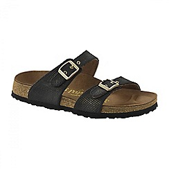 Birkenstock - Black Metallic 'Sydney' ladies sandals
