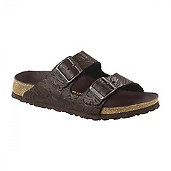 Birkenstock - Brown 'Relief Arizona' ladies two strap sandals