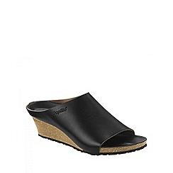 Birkenstock - Black 'Metallic Debby' ladies wedged sandals