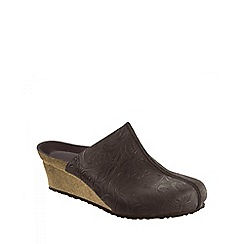 Birkenstock - Brown 'Dolores' ladies wedged clogs