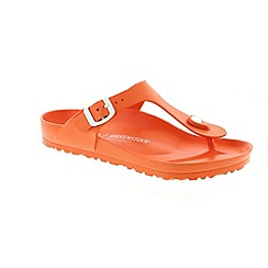 Birkenstock - Orange 'Gizeh EVA' T-bar sandals