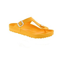 Birkenstock - Yellow 'Gizeh EVA' T-bar sandals