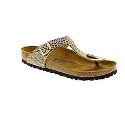 Birkenstock - Gold Shiny Snake 'Gizeh' ladies sandal