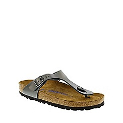 Birkenstock - Dark grey 'Anthracite Gizeh' ladies sandals