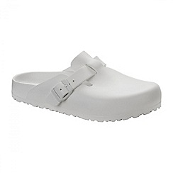 Birkenstock - White 'Boston' ladies sandal