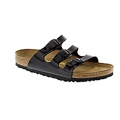 Birkenstock - Black Black Patent 'Florida' slip on sandals