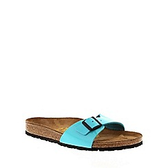 Birkenstock - Blue Blue Patent 'Madrid' slip on sandals
