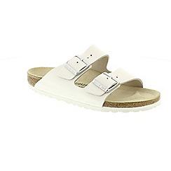 Birkenstock - White 'Arizona' mule sandals