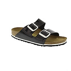 Birkenstock - Black patent black 'Arizona' mule sandals
