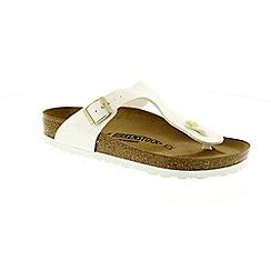 Birkenstock - White 'Gizeh' t-bar sandals