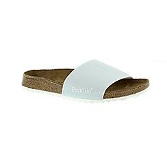 Birkenstock - Pale blue 'Cora' peep toe mule sandals