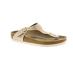 Birkenstock - Metallic rose 'Gizeh' t-bar mule sandals